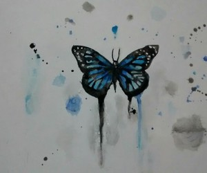 butterfly, draw, and paint image