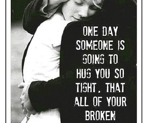 love, broken, and hug image