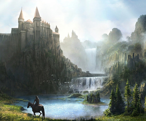 beautiful, castle, and horse image
