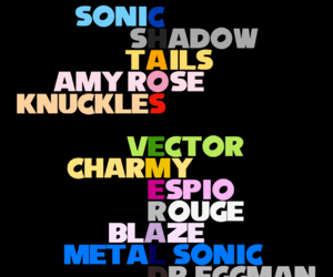 Sonic the hedgehog, amy rose, and shadow the hedgehog image