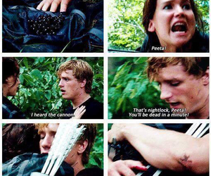 the hunger games, katniss, and mellark image