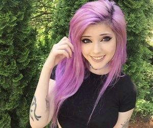 colored hair, girl, and leda muir image