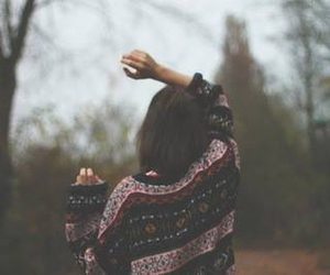 girl, sweater, and vintage image