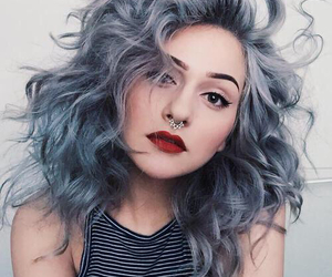 hair, makeup, and grey image
