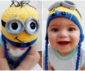 baby, minions, and hat image