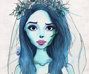 drawing, corpse bride, and bride image