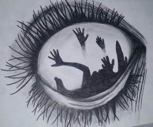 black, creepy, and my drawing image