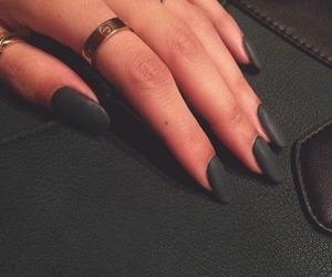 black, nails, and purse image