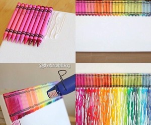 diy, crayons, and tutorial image