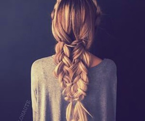 blonde girl, braids, and braided hairstyle image