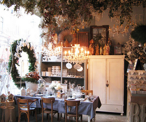 accessories, chandelier, and christmas image
