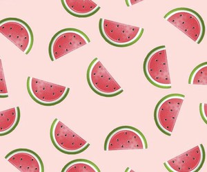 wallpaper, cute, and watermelons image