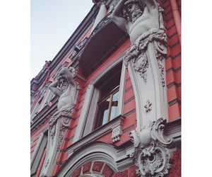 architecture, red, and vsco image