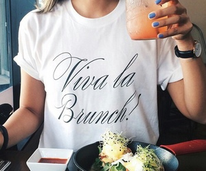 food, brunch, and drink image