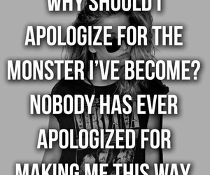 monster, quote, and apologize image