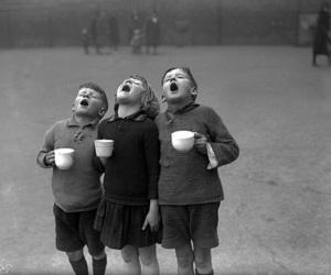 kids, black and white, and children image