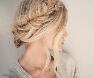 blonde, ombre, and style image