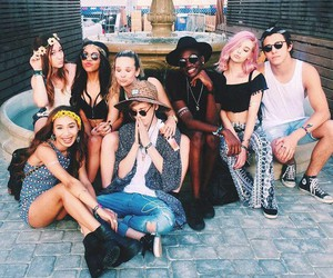 squad, coachella, and goals image