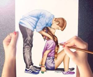 drawing, love, and jih image