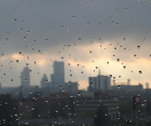 city, place, and rain image