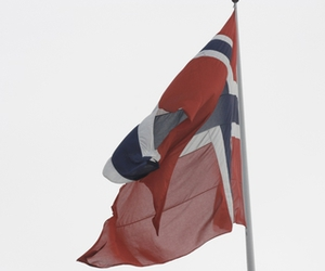 flag, norge, and norway image