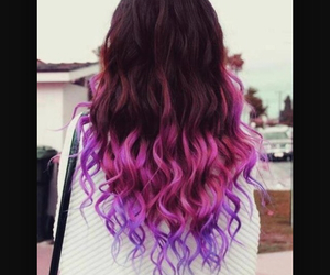 burgundy, pink, and curly image