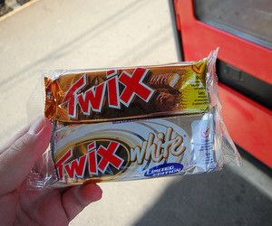 Twix, chocolate, and food image