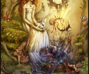 art, fantasy, and pandora image