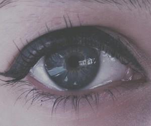 blue, eye, and grunge image