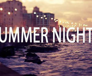 summer, night, and beach image