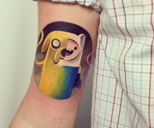 tattoo, adventure time, and JAKe image
