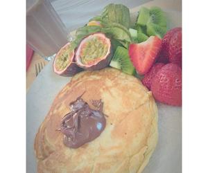 food, kiwi, and pancakes image