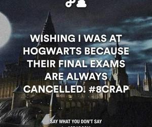 hogwarts, exams, and harry potter image