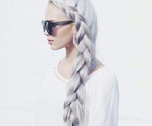 white hair image