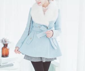 coat, blue, and fashion image