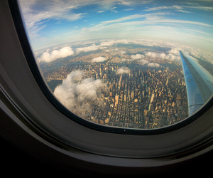 travel, city, and clouds image