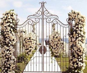 wedding, 1. hands instead, and 2. walk into gate image