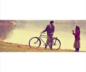 bicycle, film, and hijab image