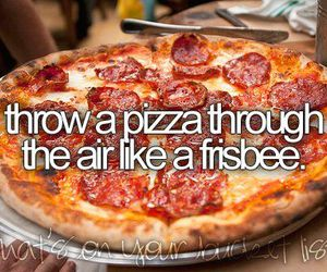 pizza and frisbee image