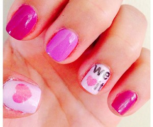 nails, pink, and we heart it image