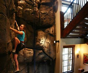 climbing and house image
