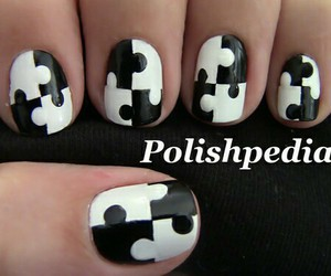 nails, puzzle, and white image