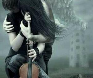angel, love, and violin image