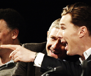 Martin Freeman, benedict cumberbatch, and sherlock image
