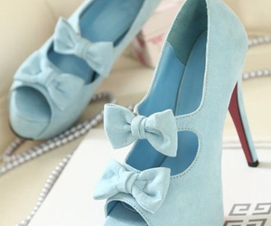 blue, fashion, and bow image