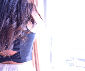 back, bustier, and hair image