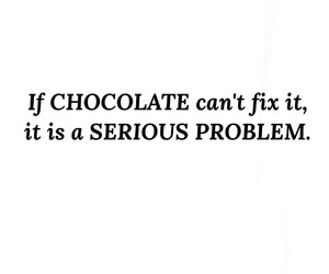 chocolate, fix, and no image