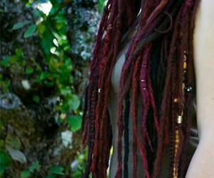 dreads, dreadlocks, and red image