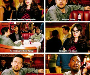 new girl, nick miller, and coach image