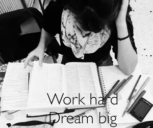 Dream, work, and hard image